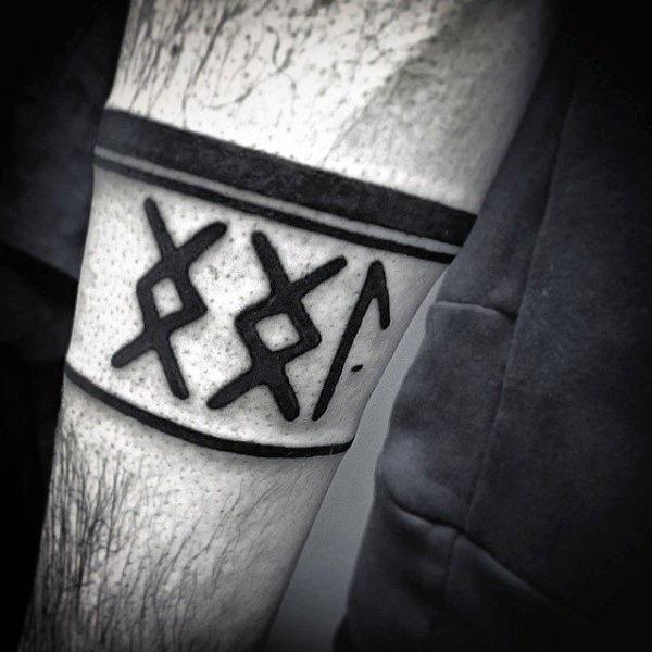 Значения рунических татуировок, стоит ли их делать и где, эскизы и фото
