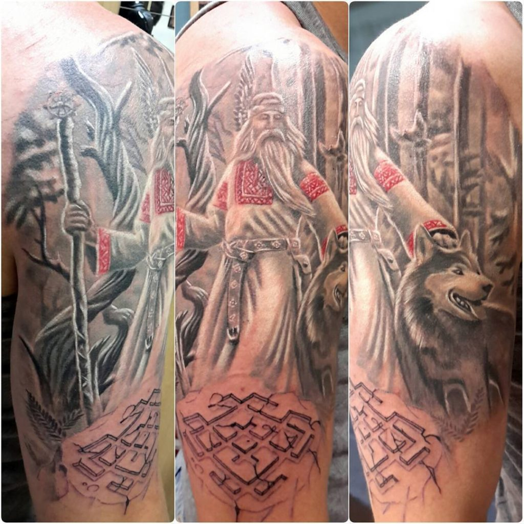Языческие славянские татуировки - их значение, примеры и эскизы для мужчин и женщин